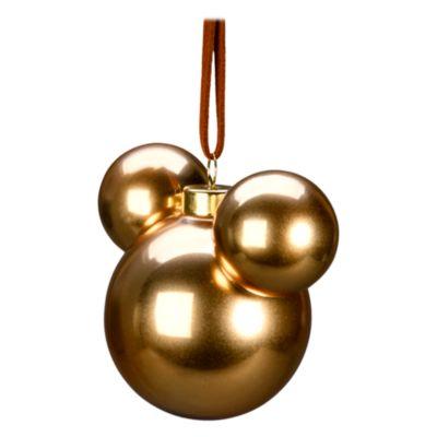 Disneyland Paris Boule Tête de Mickey dorée