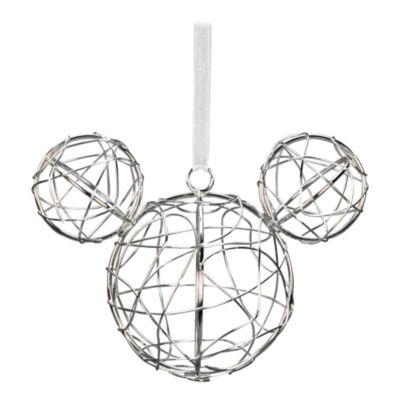 Disneyland Paris Boule Tête de Mickey en métal argenté