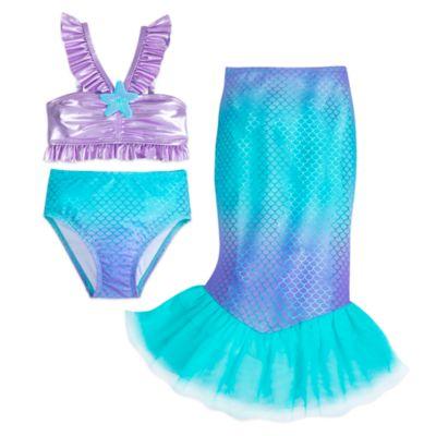 Disney Store The Little Mermaid 3 Piece Swimsuit For Kids