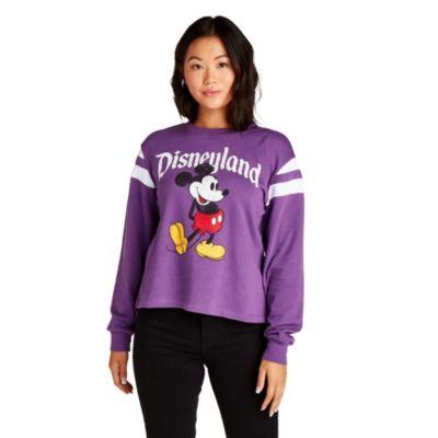 Felpa Topolino Disneyland di colore viola per donna