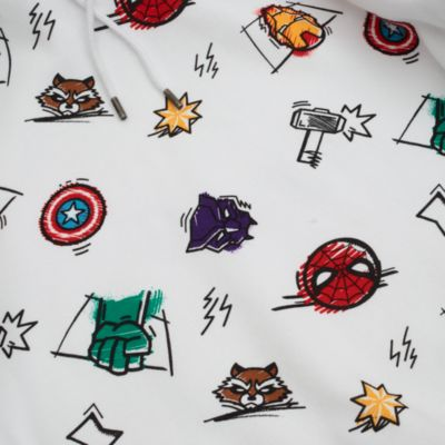 Disney Store Avengers Sketch Hooded Sweatshirt For Adults