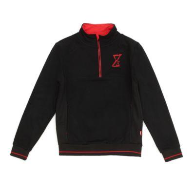 Disney Store Black Widow Zip Neck Sweatshirt For Adults