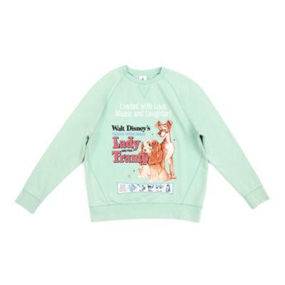 Disney Store Sweatshirt à capuche La Belle et le Clochard classique pour femmes