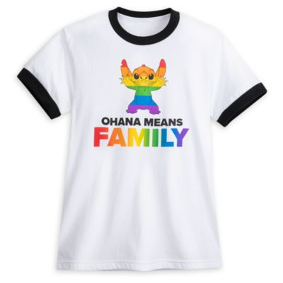 Camiseta Stitch para adultos, Rainbow Disney, Disney Store