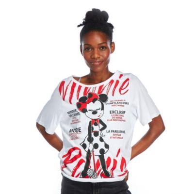 Disneyland Paris T-shirt Minnie Parisienne pour femmes