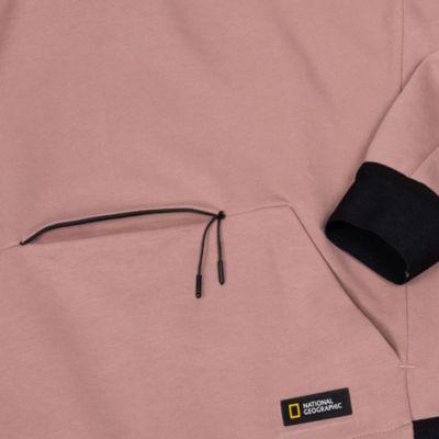 Disney Store Sweat-shirt National Geographic à capuche rose pour adultes