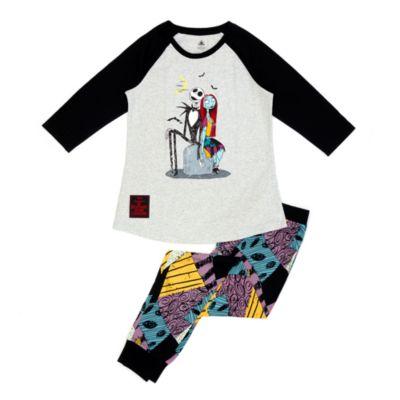 Disney Store Pyjama L'Étrange Noël de monsieur Jack en coton biologique pour adultes