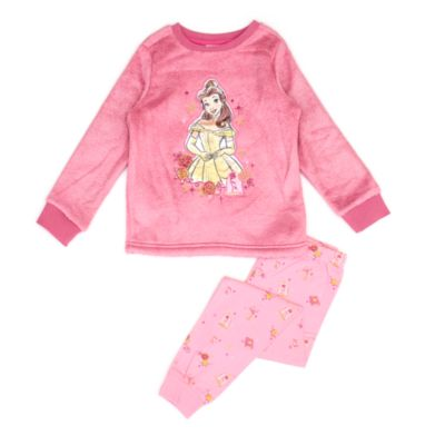 Disney Store Belle Fluffy Pyjamas For Kids, Beauty and the Beast
