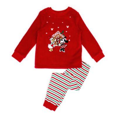 Disney Store - Minnie und Daisy - Flauschiger Pyjama im Weihnachtsdesign für Kinder