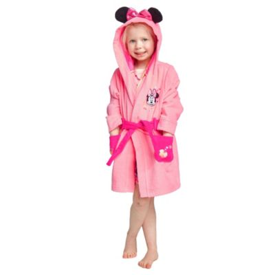 Disney Store Minnie Mouse Bath Robe For Kids