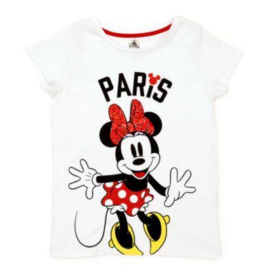 Disney Store Minnie Mouse Paris T-Shirt For Kids