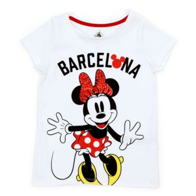 Disney Store Minnie Mouse Barcelona T-Shirt For Kids