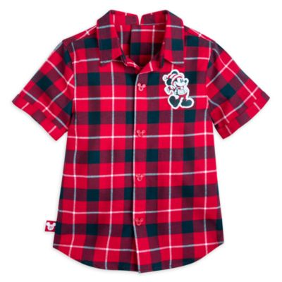 Disney Store Mickey Mouse Adaptive Shirt For Kids, Walt's Holiday Lodge