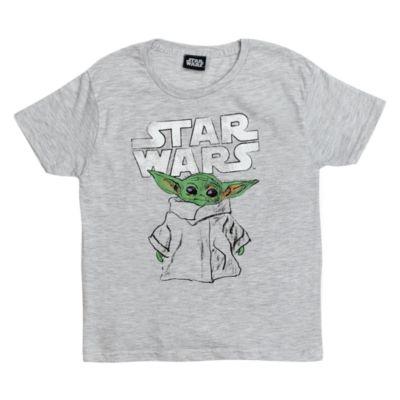 Star Wars: The Mandalorian - Das Kind - T-Shirt mit skizzenartigem Motiv für Kinder