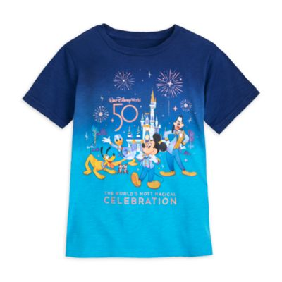 Walt Disney World Mickey Mouse 50th Anniversary T-Shirt For Adults