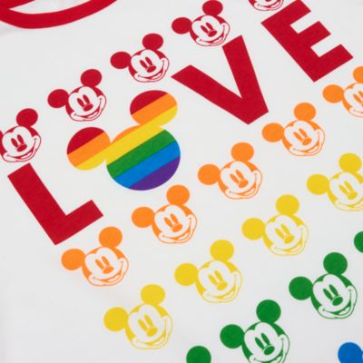 Disney Store Mickey Mouse Love Rainbow Disney T-Shirt For Adults