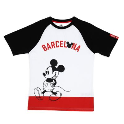 Disney Store Mickey Mouse Barcelona T-Shirt for Adults