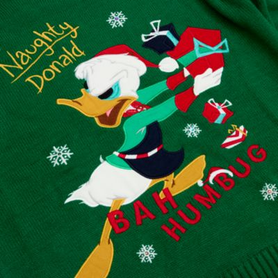 Disney Store Pull de Noël lumineux Donald pour adultes, Holiday Cheer