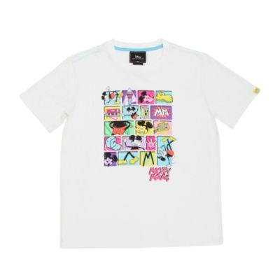 Camiseta blanca Mickey Mouse para adultos, serie Disney Artist, Disney Store