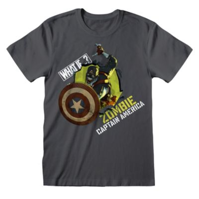 Disney Store - What If...? - Zombie Captain America - T-Shirt für Erwachsene