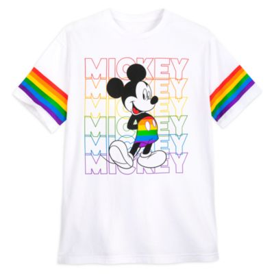 Camiseta Mickey Mouse para adultos, Rainbow Disney, Disney Store