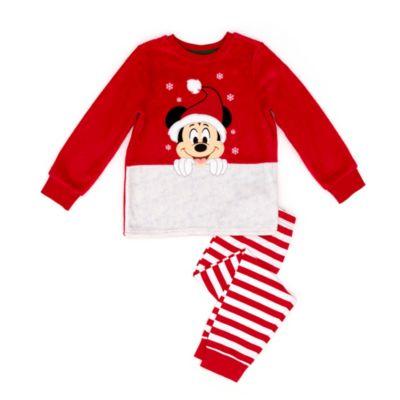 Disney Store Pyjama molletonné Mickey pour enfants, Holiday Cheer