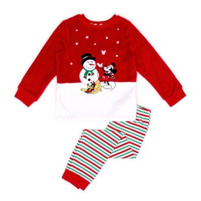 Disney Store - Micky Maus - Flauschiger Pyjama im Weihnachtsdesign für Kinder