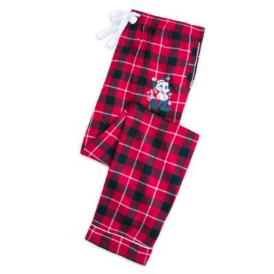 Disney Store Pantalon de pyjama Mickey pour adultes, Walt's Holiday Lodge
