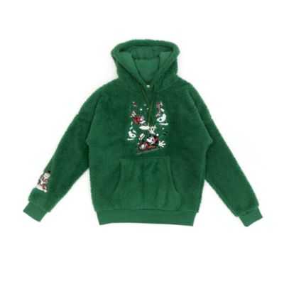 Disney Store Mickey and Friends Festive Hooded Sweatshirt For Adults