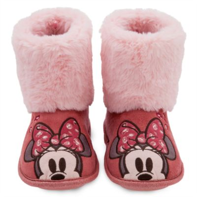 Disney Store Minnie Mouse Slipper Boots For Kids
