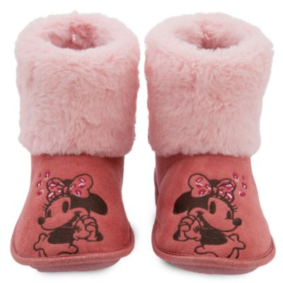 Disney Store Minnie Mouse Slipper Boots For Adults