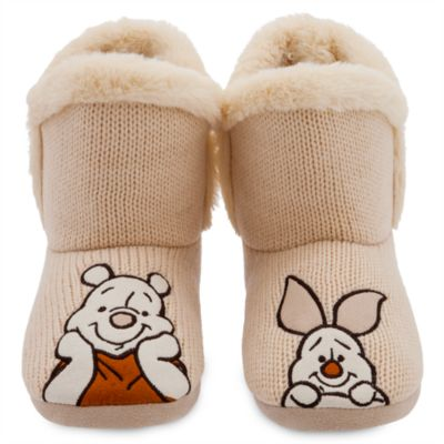 Disney Store Winnie the Pooh and Piglet Slipper Boots For Adults