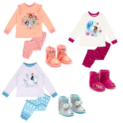 Disney Store Princess, Raya and Frozen Sleepwear Collection For Kids