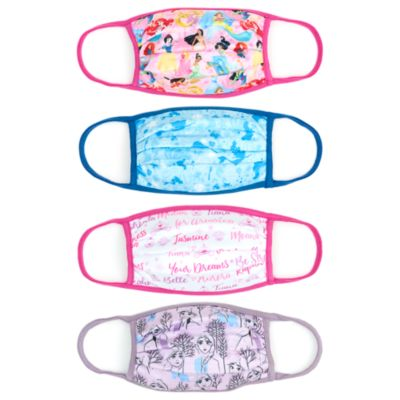 Disney Store Masques en tissu Princesses Disney, lot de 4