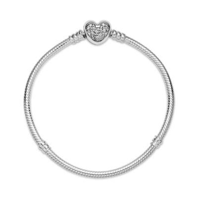 Disney X Pandora Moments Mickey Mouse Heart Clasp Snake Chain Bracelet