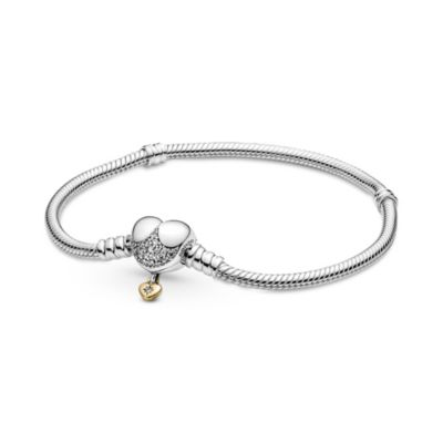Disney X Pandora Moments Heart Clasp Snake Chain Bracelet