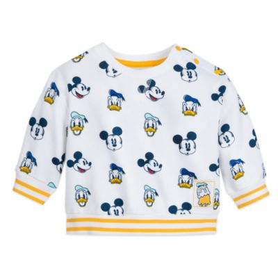 Disney Store Mickey and Donald Baby Top and Bottoms Set