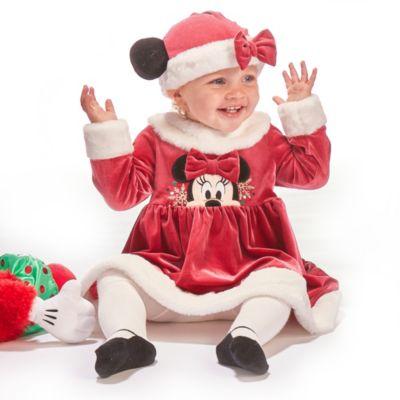 Disney Store Ensemble robe et collants Minnie pour bébés, Holiday Cheer
