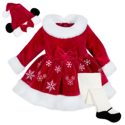 Disney Store Minnie Mouse Mrs. Claus Baby Outfit