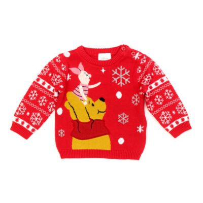 Disney Store Winnie the Pooh and Piglet Festive Baby Jumper