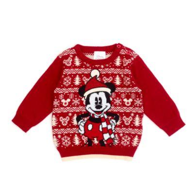 Disney Store - Micky Maus - Baby-Pullover im Weihnachtsdesign