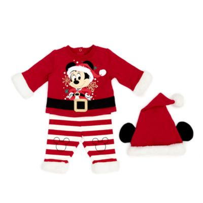 Disney Store Mickey Mouse Holiday Cheer Baby Top and Bottoms Set