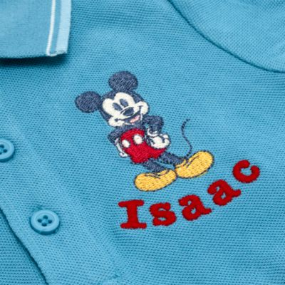 Disney Store Mickey Mouse Blue Polo Shirt For Toddlers & Kids