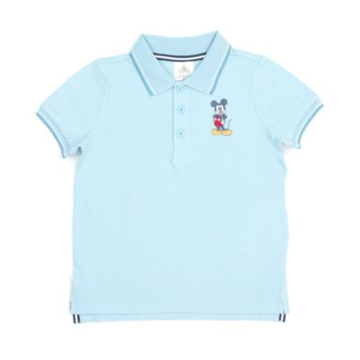 Disney Store Mickey Mouse Teal Polo Shirt For Toddlers & Kids