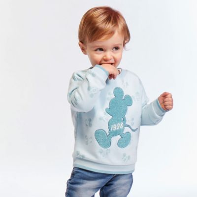 Disney Store Mickey Mouse Teal Sweatshirt For Toddlers & Kids
