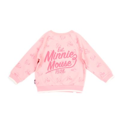Disney Store Minnie Mouse Pink Sweatshirt For Toddlers & Kids