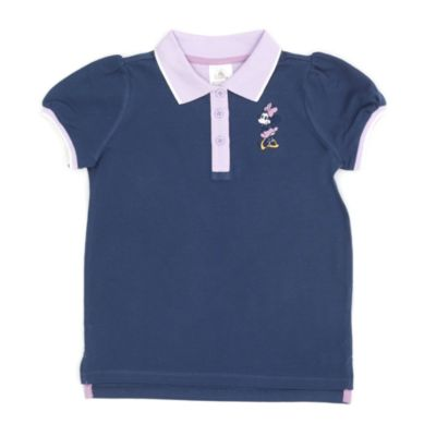 Disney Store Minnie Mouse Violet Polo Shirt For Toddlers & Kids