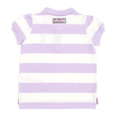 Disney Store Minnie Mouse Block Stripe Polo Shirt For Toddlers & Kids