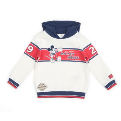 Disney Store Mickey Mouse White and Blue Hooded Sweatshirt For Toddlers & Kids