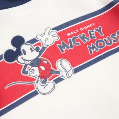 Felpa con cappuccio bimbi e baby Topolino blu e bianco Disney Store